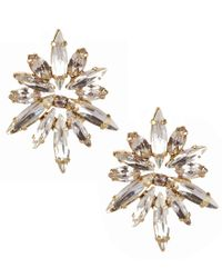 Belle By Badgley Mischka - Metallic Midnight Starburst Earrings - Lyst