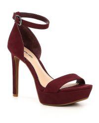 Gianni Bini Red Pamona Dress Sandals