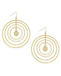 Jessica Simpson - Metallic Opalescence Multi Ring Earrings - Lyst