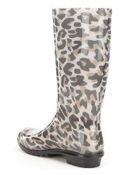 Ugg - Multicolor ® Shaye Leopard Waterproof Rubber Shearling Rain Boots - Lyst