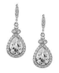 Givenchy - Metallic Crystal Pavé Pear Drop Earrings - Lyst