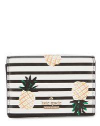 Kate Spade - Black Cameron Street Pineapple Gabe Wallet - Lyst