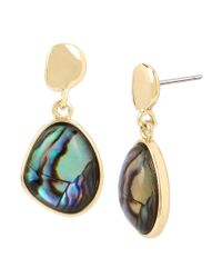 Kenneth Cole - Metallic Abalone Drop Earrings - Lyst