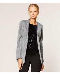 Calvin Klein | Black Glen Plaid Knit Jacket | Lyst