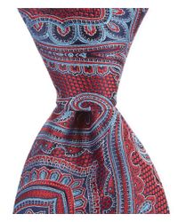 """Cremieux - Red Fancy Paisley Traditional Silk 3.25"""" Tie for Men - Lyst"""