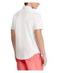 Polo Ralph Lauren - Blue Solid Custom Slim-fit Short-sleeve Woven Shirt for Men - Lyst