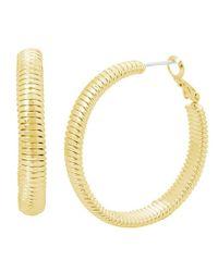 Kenneth Cole - Metallic Textured Hoop Earrings - Lyst