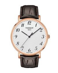 Tissot - Everytime Men's Brown Leather Strap Watch for Men - Lyst
