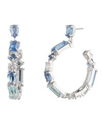 Carolee - Metallic Hoop Earrings - Lyst