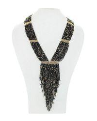 Panacea - Metallic Seed Bead Fringe Y-necklace - Lyst