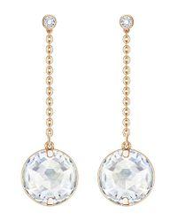Swarovski | Metallic Globe Linear Drop Earrings | Lyst