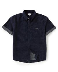 Joe's Jeans - Blue Harvey Polka Dots Short-sleeve Shirt for Men - Lyst