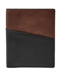 Fossil - Black Rfid Leather Passport Case for Men - Lyst