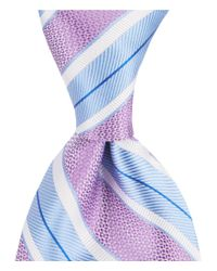 Cremieux - Purple Big & Tall Soft Stripe Traditional Silk Tie for Men - Lyst