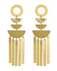 Panacea - Metallic Geometric Shiny Statement Earrings - Lyst