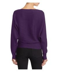 Lauren by Ralph Lauren | Purple Cotton-blend Dolman Sweater | Lyst