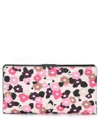Kate Spade - Pink Hyde Lane Floral Stacy Continental Wallet - Lyst