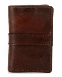 Frye - Brown Oliver Bi-fold Wallet for Men - Lyst
