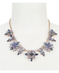 Kate Spade - Blue Snowy Nights Statement Necklace - Lyst
