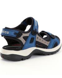 Ecco - Blue Yucatan Sandals for Men - Lyst
