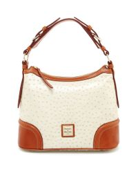 Dooney & Bourke | Natural Dillard ́s 75th Anniversary Ostrich-embossed Hobo Bag | Lyst