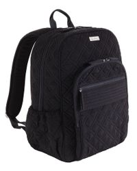 Vera Bradley | Black Quilted Campus Backpack | Lyst