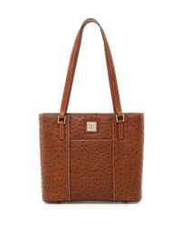 Dooney & Bourke | Brown Small Lexington Ostrich-embossed Tote | Lyst