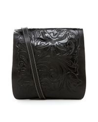 Patricia Nash - Black Tooled Floral Embossed Granada Cross-body Bag - Lyst