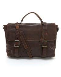 Frye | Brown Logan Flap Laptop Briefcase for Men | Lyst