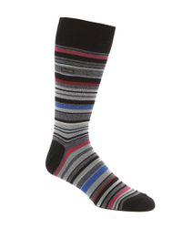 Calvin Klein | Black Barcode Multi-stripe Casual Crew Socks | Lyst