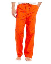 Polo Ralph Lauren - Orange Pony-print Woven Pajama Pants for Men - Lyst