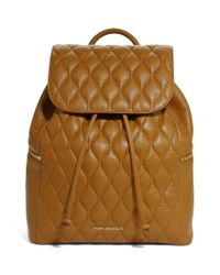 Vera Bradley | Brown Amy Quilted Leather Backpack | Lyst