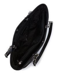 Calvin Klein - Black Saffiano Chain Tote - Lyst