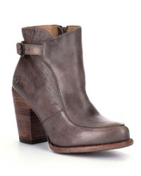 Bed Stu Isla Distressed Buckle Strap Booties reLdCIDJ