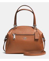 COACH | Brown Prairie Satchel In Pebble Leather | Lyst