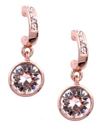 Givenchy | Pink Rose Gold Crystal Drop Earrings | Lyst