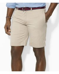 Polo Ralph Lauren | Brown Big & Tall Classic-fit Flat-front Chino Short for Men | Lyst