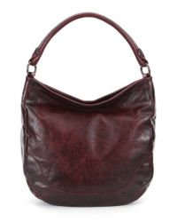 Frye | Brown Melissa Washed Leather Hobo Bag | Lyst