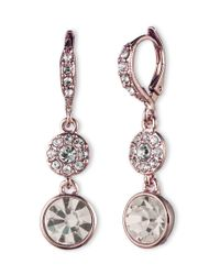 Givenchy - Metallic Rose Gold Drop Earrings - Lyst