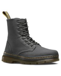 Dr. Martens | Black Combs 8-Eye Canvas Ankle Boots for Men | Lyst