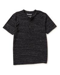 Hurley   Black Mobile Short-sleeve Pocket Henley   Lyst