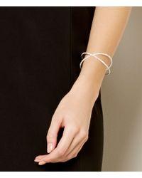 Cezanne - Metallic Rhinestone Micro X Cuff Bracelet - Lyst
