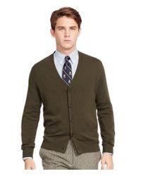 Polo Ralph Lauren | Green Merino V-neck Elbow Patch Cardigan for Men | Lyst