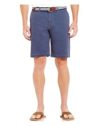 Tommy Bahama | Blue Flat-front Bedford & Sons Shorts for Men | Lyst