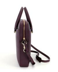 kate spade new york - Purple Leather Laptop Bag - Lyst