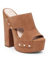 Jessica Simpson | Brown Wynne Platform Sandals | Lyst