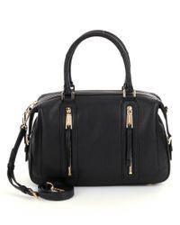 MICHAEL Michael Kors | Black Tasseled Grained-leather Bag | Lyst