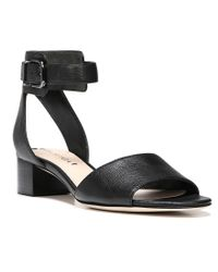 Via Spiga | Multicolor Iris Printed Calf Hair Platform Sandal Blackwhite | Lyst