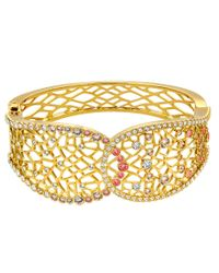 Swarovski | Metallic Elinor Coral Filigree Hinge Bangle Bracelet | Lyst