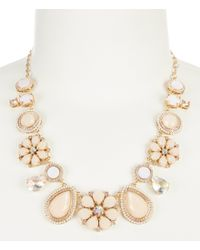 kate spade new york - Metallic At First Blush Mother Of Pearl Statement Necklace - Lyst